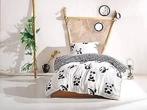 EnLora Home Panda Single Quilt Cover Set, Black/White, 155 x 200 cm, 162ELR11282