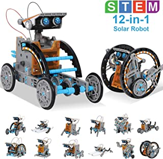 HOMOFY STEM Toys Solar Robot Kit 12-in-1 Educational Science Kits Toys Learning Science Building Toys-Powered by Solar STEM Toys Robot Science Kits for Kids 10-12 Year Olds Boys Girls Gifts