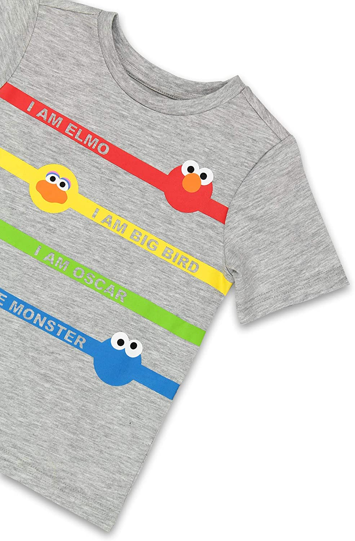 Isaac Mizrahi Loves Sesame Street Gang Elmo Toddler Baby Short Sleeve Tee (12 Months, Gray)