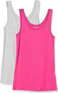 Amazon Essentials Paquete de 2 Tanques de Ajuste Delgado Camisa para Mujer