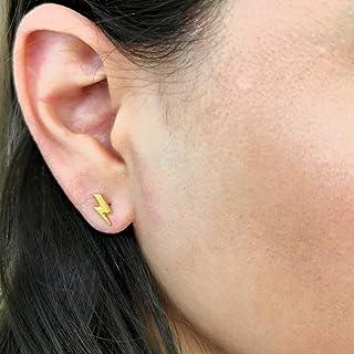Arete de Rayo - Chapa Oro 22k - Elegantia Jewelry