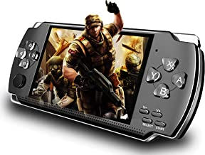 Handheld Game Console, Built-in 1200+ Classic Games 4.3'' HD Screen Retro Gaming System, Support TV Output, Portable Recha...