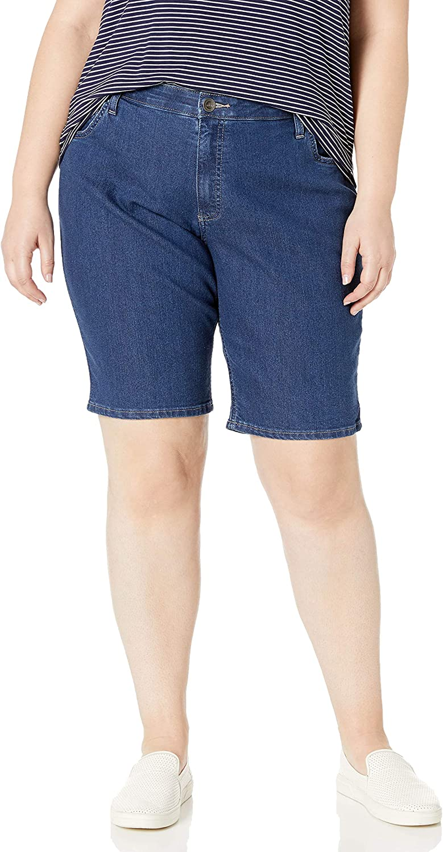 Riders by Lee Indigo Women's Plus-Size Comfort Waist Bermuda Short