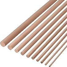 Gedotec beukenhouten ronde stok 20 mm gladde beukenhouten ronde stokjes | lengte van ronde stokjes 2000 mm | stabiele & ho...
