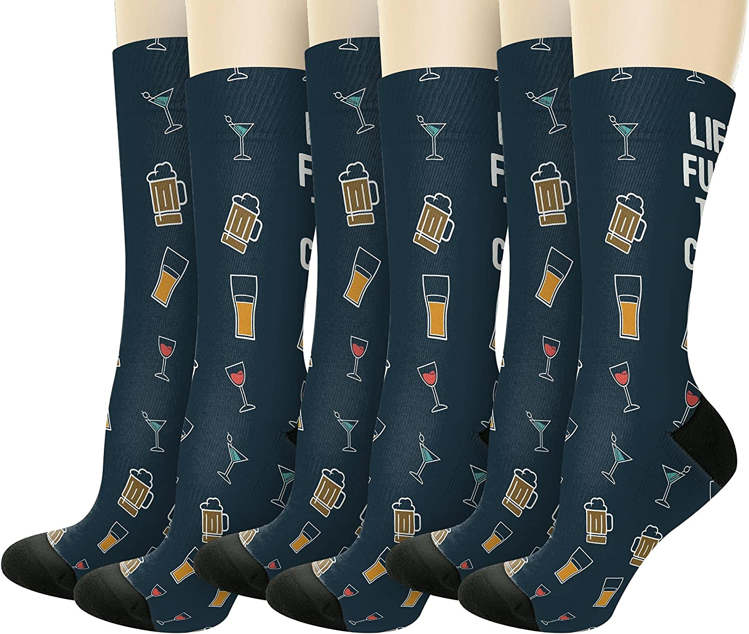 Life Is Full Of Tough Choices Adult Beverages Novelty Crew Socks