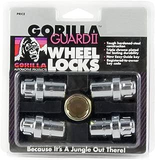 Gorilla Automotive 63631N Chrome Standard Mag Gorilla Guard II Wheel Locks - Set of 4 (12mm x 1.50 Thread Size)