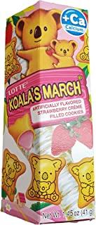 Lotte Koala's March Creme-Filled Cookies 1.45 Oz - Strawberry (1.45 ounce)