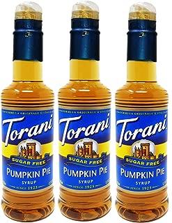 Torani Syrup Sugar Free 375 Milliliter Pumpkin Pie 3 Pack