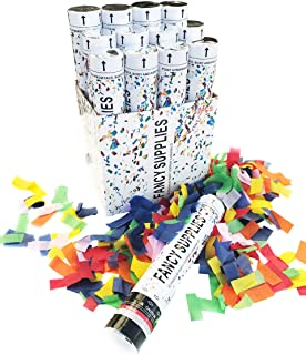 Fancy Supplies Pack of 12 Multi-Color Confetti Wedding Graduation Party New Years Celebrations Engagement Celebrate Club (12 Piece, Multicolor)