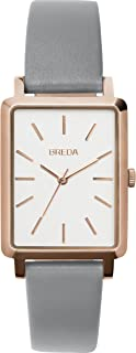 BREDA Women's 'BAER' Stainless Steel and Leather Strap Watch, 26MM