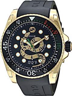 Gucci - Dive Reloj Cuarzo Suizo analógico Correa de Goma Caja de YA136219