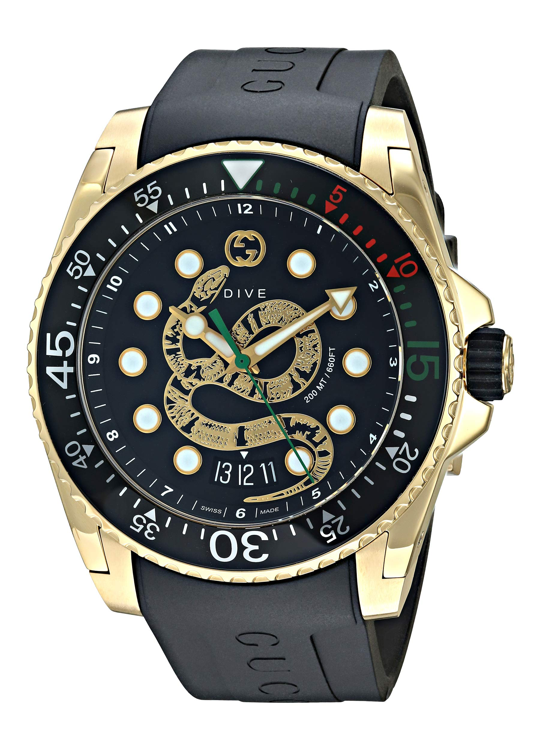 Gucci Dive Watch Black Size