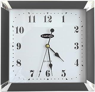 CARVEN 0346040 Square Wall Clock, Black
