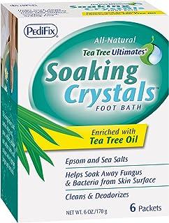 Pedifix Tea Tree Ultimates Soaking Crystals Foot Bath, 1 ounce, 6 Packets