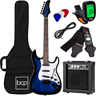 Best Best Choice Products 39in Full Size Beginner Electric Guitar Starter Kit w/Case, Strap, 10W Amp, Strings, Pick, Tremolo Bar - Hollywood Blue Review