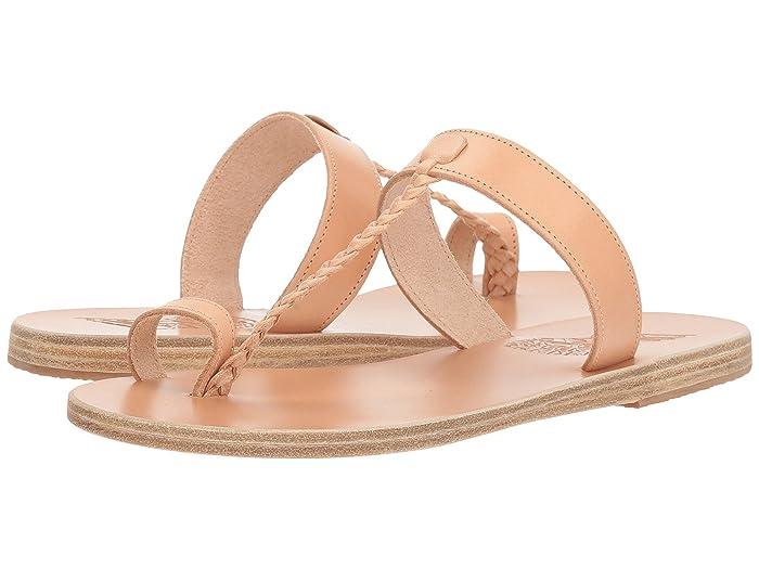 Ancient Greek Sandals  Melpomeni (Natural Vachetta) Womens Sandals