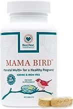 Mama Bird Prenatal Multivitamin, Iodine & Iron Free, Methylfolate (Folic Acid), Methylcobalamin (B12), 100% Natural Whole Food Organic Herbal Blend, Vegan, Once Daily, 30 Ct, Best Nest Wellness