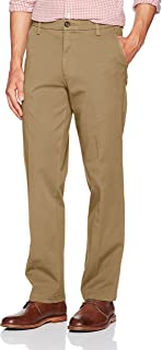 Dockers Men's Straight Fit Workday Smart 360 Flex Pants, New British Khaki (Stretch) - Tan, 36W x 32L