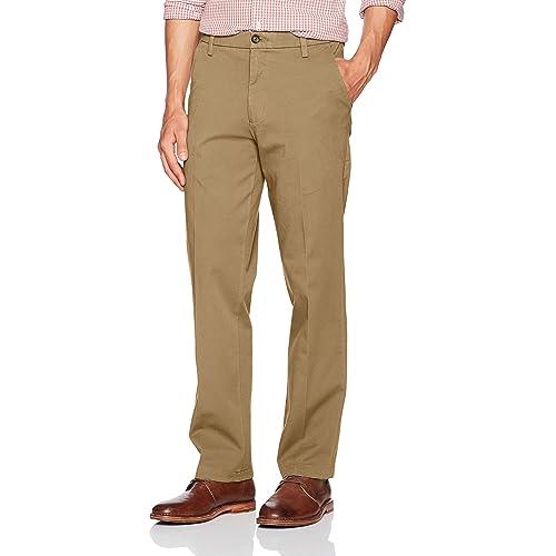 84859d408d079c Dockers Men's Straight Fit Workday Khaki Pants with Smart 360 Flex
