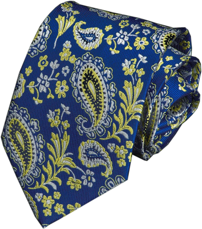 Secdtie Men's Paisley Ties Jacquard Woven Handmade Designer Groomsmen Neckties
