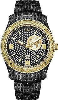 JBW Luxury Men's Jet Setter GMT 100 Diamonds Two Time Zone Watch