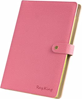 Business Padfolio Faux Leather Portfolio Binder Case by RAY.King Professional Documents Organizer with 5 Card Holders & iPhone Slot for Interview &Resume Document and Notepad