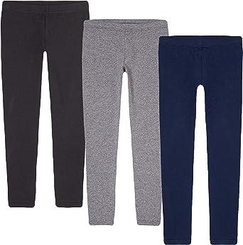 KIDPIK Girls Leggings 3-Pack | Great Basics Everyday Wear