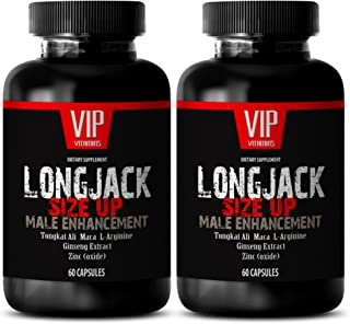 Testosterone Booster Lean Muscle - LONGJACK Size UP 2170Mg - Male Enhancement Supplement (with Maca, Tongkat Ali, L-Argini...