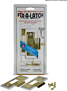 Fix-A-Latch Interior 2-Pack with Brass Finish