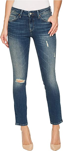 Mavi Jeans - Adriana Mid-Rise Super Skinny Ankle in Mid Shaded Glam Vintage