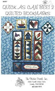 Quick As CAn Bee! 2 - Quilted Bookmarks Pattern 5907 from The Violet Patch Multiple Sizes and Styles