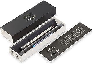 Parker Vector Paslanmaz Çelik Krom Tasarımlı Dolma Kalem, Orta Kalınlıkta Uç, Mavi Mürekkep