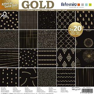 Artemio Set papiers 40 pages OR Noir Foil – 30x30 cm