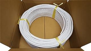 日本製線 高性能ギガビット伝送対応LANケーブル (Cat5e) 100m巻(白色) 0.5 - 4P NSEDT (WH) (100)