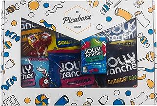 Picaboxx Jolly Rancher Gran caja de regalo American Candy Selection ★ 10 productos Mega Pack ★ American Candy Hamper ★ Caja de regalo dulce con ventana de visualización