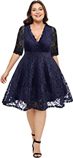 Best plus size skater dress for wedding Reviews
