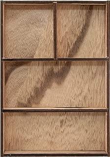 Tim Holtz, Advantus TH93794 Vignette Divided Wooden Box, Brown