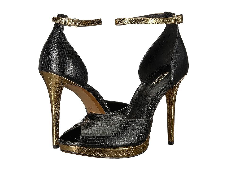 MICHAEL Michael Kors Tiegan Sandal (Black/Gold) Women