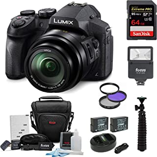 Panasonic DMC-FZ300K Digital Camera with Digital Slave Flash and 64GB Card Bundle