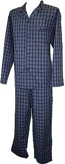 Espionage Navy Blue Traditional Check Long Pyjamas