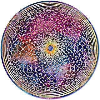 """Sun catcher""""Chakra della corona"""" No. 19. Ø 15cm / simbolo meditazione/immagine della finestra appendiabiti/vetro acrilico ..."""