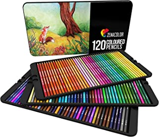 120 Colored Pencils Set, Numbered, with Metal Box - 120 Coloring Pencils for Adult Coloring Books - Colored Pencils for Adults and for Kids, Gift for Artists - Color Pencil Set, School Art Supplies