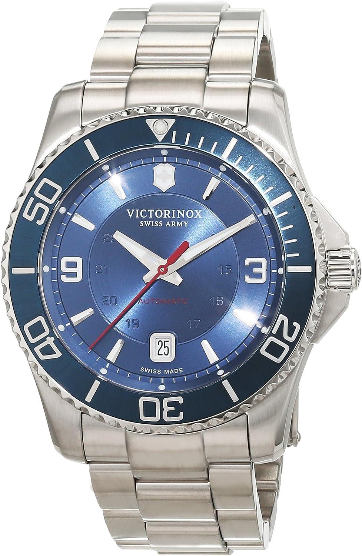 Victorinox Swiss Army Maverick Mechanical Analog Reloj Automático De Pulsera para Hombre Acero Inoxidable 241706