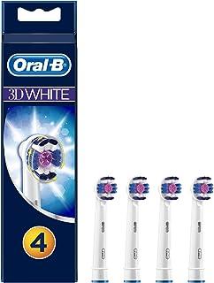 Oral-B 3DWhite Końcówki Do Elektrycznej Szczoteczki Do Zębów, Biały, 4 Szt.