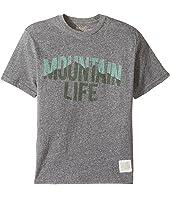 The Original Retro Brand Kids - Mountain Life Short Sleeve Tri-Blend Tee (Big Kids)