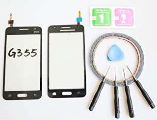 JRLinco ParaSamsung Galaxy Core 2Duos SM-G355H G355 Pantalla de Cristal Táctil, Pieza de Recambio touchscreen glass display(Sin LCD) Para negro + Herramientas y Adhesivo de Doble Cara