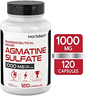 Agmatine Sulfate Capsules 1000mg | 120 Pills | Pharmaceutical Grade | Non-GMO, Gluten Free Supplement | by Horbaach