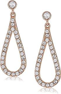 Mestige Rose Gold Kinzlee Earrings with Swarovski Crystals