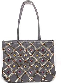 SriShopify Handcrafted Women's Handbag Travel Shoulder bag Traditional Tote bag Cotton handmade wedding gifts for marriage...