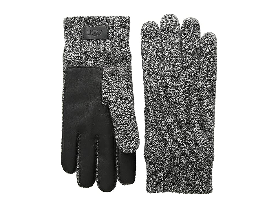 UGG Knit Gloves with Conductive Leather Palm (Black Multi) Extreme Cold Weather Gloves